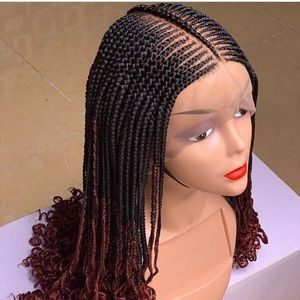 Two colors tone beautiful braiding wig